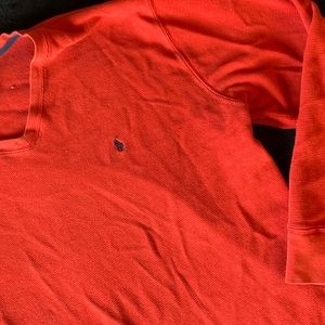 Men's red long sleeve Polo RL thermal top